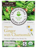Traditional Medicinals - Organic Fair Trade Ginger with Chamomile Tea (16 bag)  公平貿易有機薑茶
