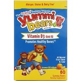 Hero Nutritionals - Yummi Bears Vitamin D3 (600iu, 60 bears) 熊仔維他命D軟糖