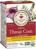 Traditional Medicinals - Organic Throat Coat Lemon Echinacea Tea (16 bag) 有機檸檬紫錐花潤喉茶
