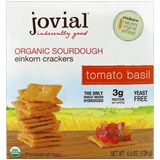 Jovial - Organic Sourdough Einkorn Crackers, Tomato Basil (4.5 oz) 有機蕃茄羅勒餅乾