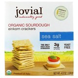 Jovial - Organic Sourdough Einkorn Crackers, Sea Salt, (4.5 oz) 意大利有機原味餅乾