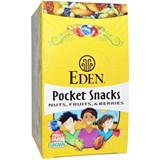 Eden Foods – Pocket Snacks, Quiet Moon, Nuts, Seeds, Dried Fruit (12 bag x 1 oz) 有機乾烤乾果包