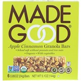 MadeGood - Organic Granola Bars, Apple Cinnamon (6 x 0.85 oz) 有機蘋果肉桂燕麥棒