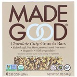 MadeGood - Organic Granola Bars, Chocolate Chip (6 x 0.85 oz) 有機朱古力燕麥棒
