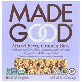MadeGood - Organic Granola Bars, Mixed Berry (6 x 0.85 oz) 有機雜莓燕麥棒