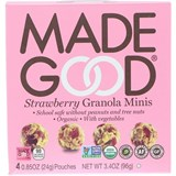 MadeGood - Organic Granola Minis, Strawberry (4 x 0.85 oz) 有機燕麥士多啤梨香脆球