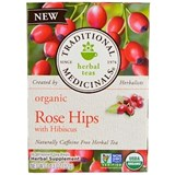 Traditional Medicinals – Organic Rose Hips with Hibiscus Tea (16 bag) 有機玫瑰果木槿花茶