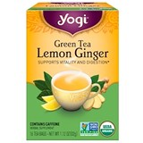 Yogi Tea – Green Tea, Lemon Ginger (16 bag) 有機檸薑綠茶